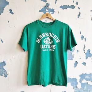 Vintage 90s Single Stitch Green Swim Team T-Shirt